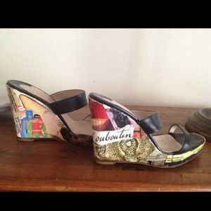 Christian Louboutin one of a kind vintage wedge